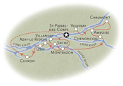 Loire Valley France Map